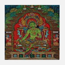 The Green Tara Tile Coaster