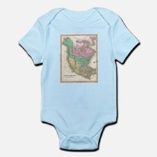 Vintage Map of North America (1827) Body Suit
