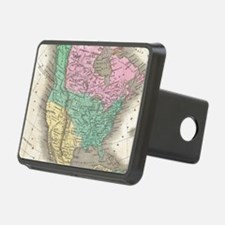 Vintage Map of North Ameri Hitch Cover