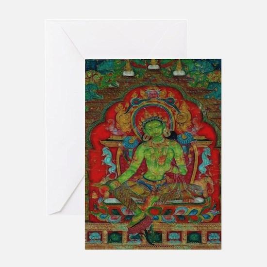 The Green Tara Greeting Cards