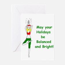 Unique Yoga christmas Greeting Cards (Pk of 10)