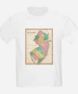 Vintage Map of New Jersey (1827) T-Shirt