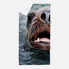 amazing Animal-sea lion Beach Towel