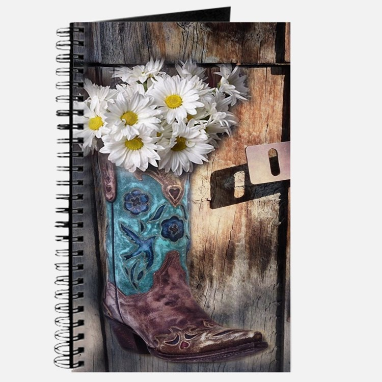 rustic daisy western country cowgirl Journal