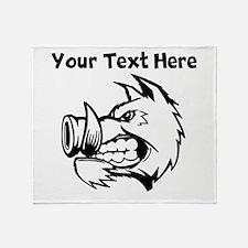Razorback Boar Throw Blanket