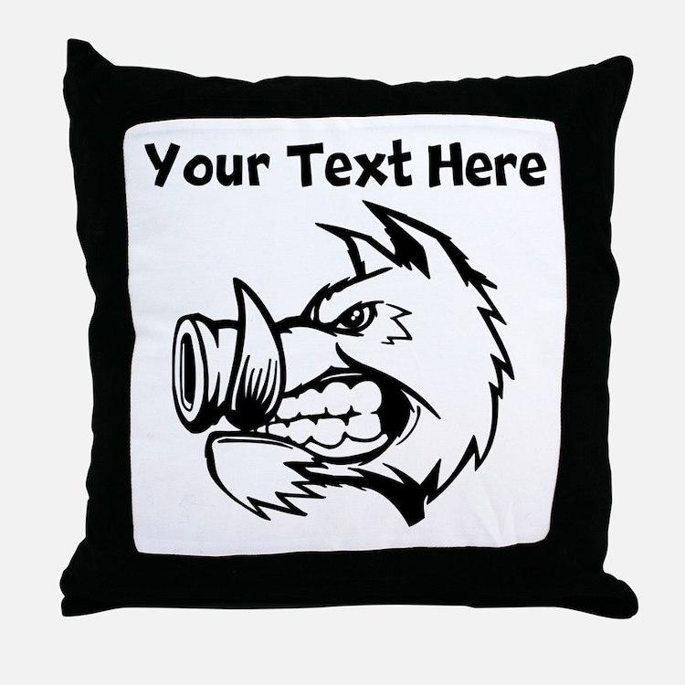 Razorback Boar Throw Pillow