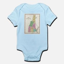 Vintage Map of New Hampshire (1827) Body Suit