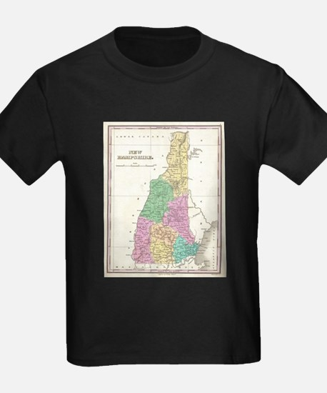 Vintage Map of New Hampshire (1827) T-Shirt