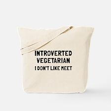 Introverted vegetarian Tote Bag