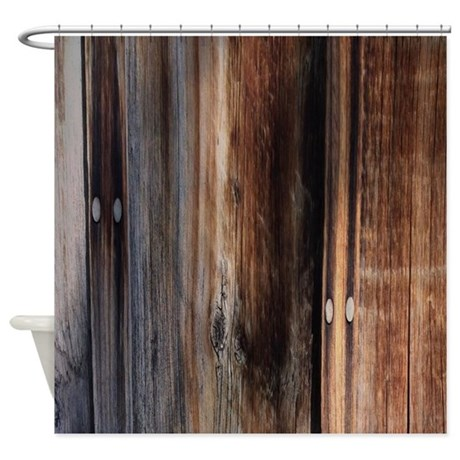 Western Country Barn Board Shower Curtain By Listing Store
