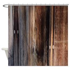 western country barn board Shower Curtain