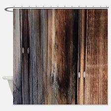 western country barn board shower curtain chandelier barn board