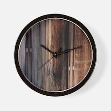 western country barn board Wall Clock