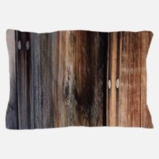 western country barn board Pillow Case