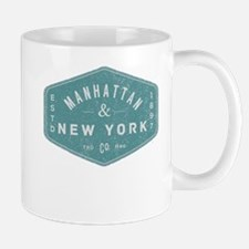 Manhattan New York City Vintage Logo li Mugs