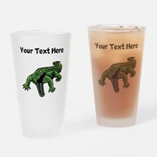 Mean Alligator Drinking Glass