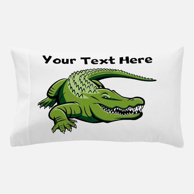 Green Alligator Pillow Case