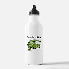 Green Alligator Water Bottle
