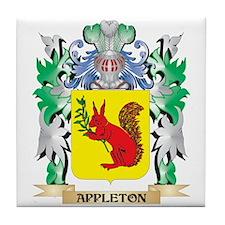 Appleton Coat of Arms - Family Crest Tile Coaster