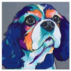Millie the Cavalier King Charles Spaniel Poster