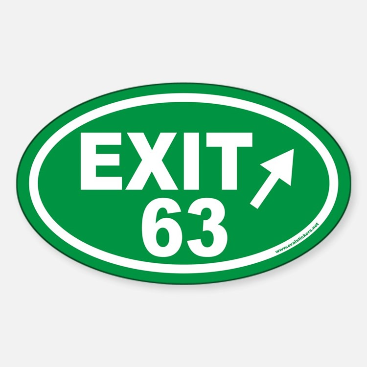 EXIT 63 Euro Oval Decal