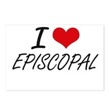 I love EPISCOPAL Postcards (Package of 8)