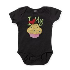 Cute Heart muffins Baby Bodysuit