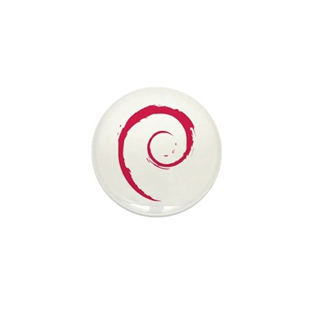 Debian Swirl Mini Button