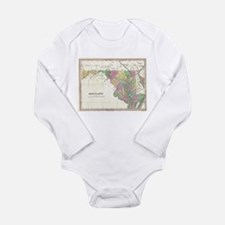 Vintage Map of Maryland (1827) Body Suit