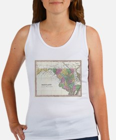 Vintage Map of Maryland (1827) Tank Top
