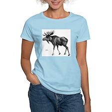 Moose Women's Pink T-Shirt