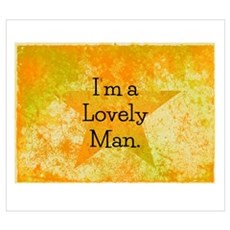Im a Lovely Man Canvas Art