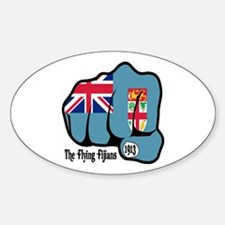 Fijian Fist 1913 Oval Decal