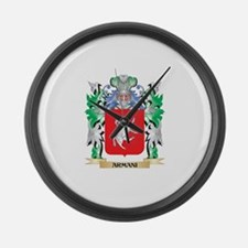 Armani Coat of Arms - Family Cres Large Wall Clock