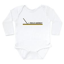 Unique Field hockey Long Sleeve Infant Bodysuit