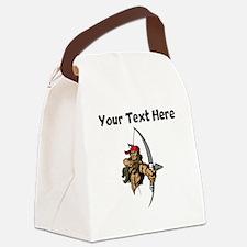 Native American Warrior Canvas Lunch Bag