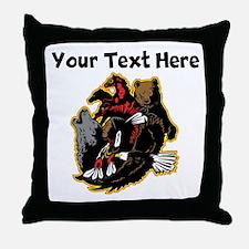 Native American Animals Throw Pillow