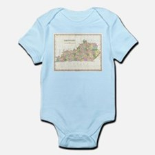 Vintage Map of Kentucky (1827) Body Suit