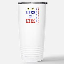 Angry American Lies and More Lies Travel Mug