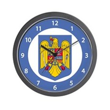 Romanian Coat of Arms Wall Clock