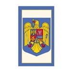 Romanian Coat of Arms Rectangle Sticker