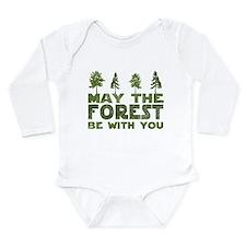Cute Tree hugger Long Sleeve Infant Bodysuit