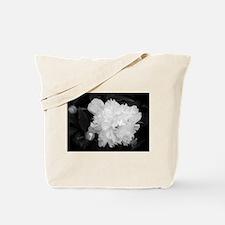 Peony Black & White Tote Bag