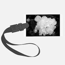 Peony Black & White Luggage Tag