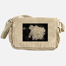 Peony Black & White Messenger Bag