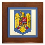 Romanian Coat of Arms Framed Tile