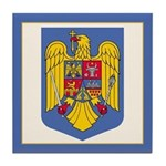 Romanian Coat of Arms Tile Coaster
