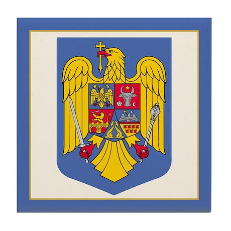 Romanian Coat of Arms Tile Coaster