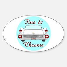 1959 Tailfins and Chrome Sticker (Oval)