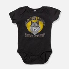 Funny Wolf and moon Baby Bodysuit